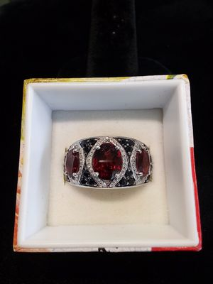 Silver red & black stone ring for Sale in Milwaukie, OR