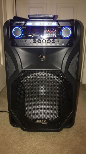 Portable Bluetooth PA Speaker with Wireless microphone for Sale in North Chesterfield, VA