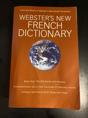 Webster's New French Dictionary for Sale in Ithaca, NY