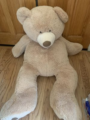 Giant stuffed teddy bear perfect condition for Sale in Folsom, CA