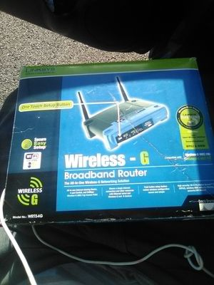 LINKSYS WRT54GS WIRELESS-G BROADBAND ROUTER WITH SPEEDBOOSTER for Sale in San Diego, CA