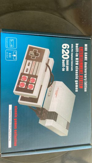 Mini retro game anniversary edition console with 620 classic arcade games ( mini Nintendo edition) for Sale in Hollywood, FL