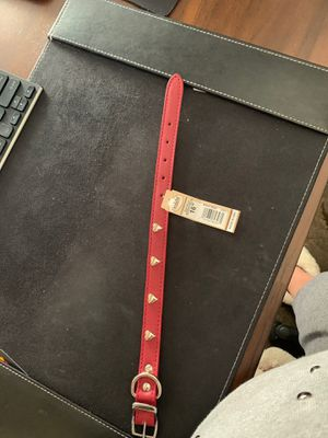 Brand New Red Leather Dog Collar for Sale in Rancho Cucamonga, CA