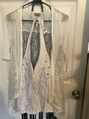 White halter top new with white lace cardigan NWT for Sale in Saint Petersburg, FL