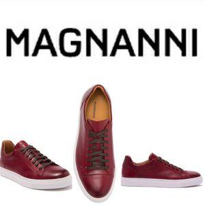 NIB New Red Magnanni Curvo Premium European Leather Sneakers Men's 9.5 / 42.5 Shoes for Sale in Shoreline, WA