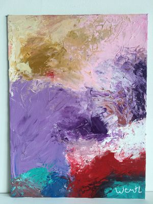 ''Purple Vibes''/ positive abstract art painting by artist W.C-M.T.L for Sale in Arlington, VA