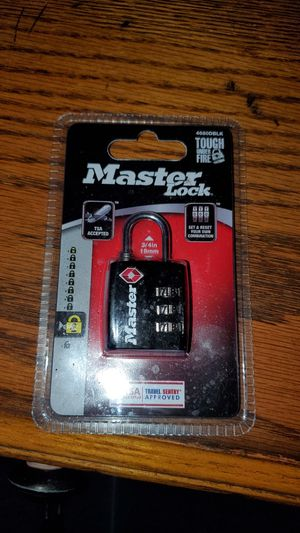 Master Lock luggage lock key and combo can be used for tool box or anything small for Sale in San Diego, CA