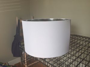 White Large Lamp Shade for Sale in Revere, MA
