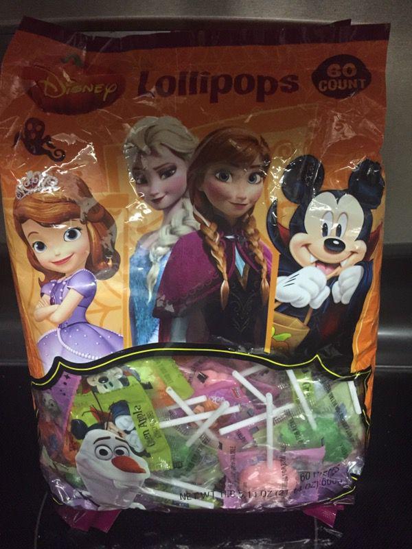 60 count Disney lollipops for Halloween or parties