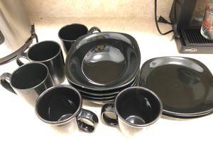 Plate set black for Sale in West Palm Beach, FL