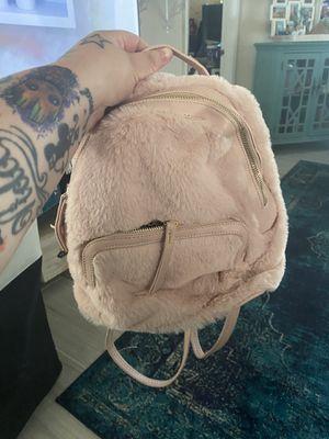 Pink fuzzy backpack for Sale in Jupiter, FL