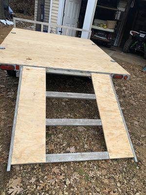 Double aluminum trailer for Sale in Schaumburg, IL