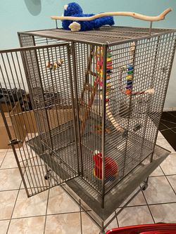 Stainless Steel, 5' tall, Bird Cage for Sale in Montclair,  CA