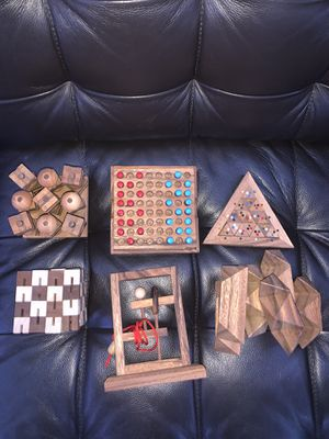 Wood Puzzle-Game Set for Sale in Chandler, AZ