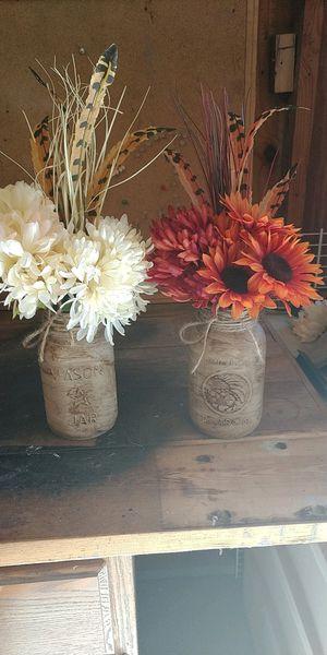 Mason jar decorations for Sale in Hudson, IL