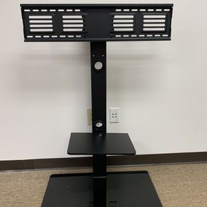 Swivel Floor TV Stand With Mount And Shelves For 32 to 55 Inch TV, Black. for Sale in Duluth, GA