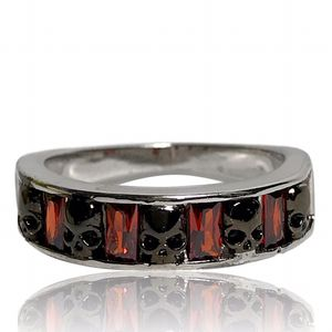 Gothic Punk Red and Black Skull Ring for Sale in Riverside, CA