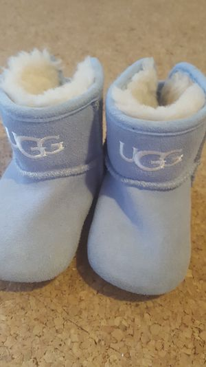 Baby Blue Boy / Girl Infant Ugg Boots Size 2 US / 18 EUR for Sale in Boca Raton, FL