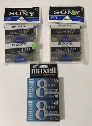 3 New Sony and Maxwell Tape Packs $3 Each for Sale in Port St. Lucie, FL