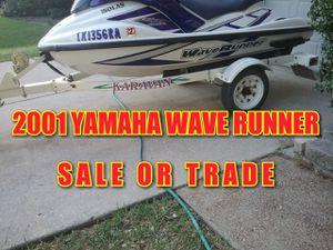 SALE OR TRADE 2001 YAMAHA WAVERUNNER JETSKI, NOT RUNNING for Sale in Grand Prairie, TX