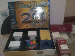 Board Game : Trivial Pursuit 20th Anniversary Edition PLUS FREE BABY BOOMER TRIVIAL PERSUIT for Sale in Raleigh, NC