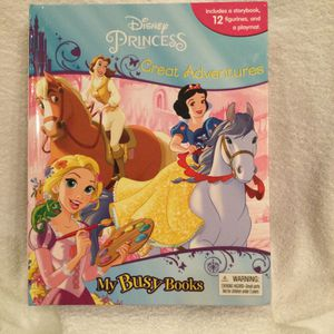 Disney Princess Great Adventures My Busy Books W/12 Figurines & Playmat for Sale in Clermont, FL