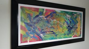 Abstract art painting with acrylic for Sale in Valrico, FL