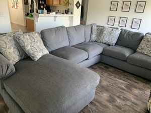 Grey sectional couch for Sale in Winchester, CA