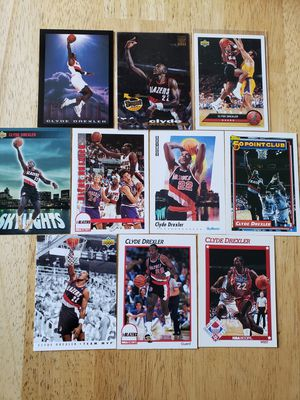 Clyde Drexler Portland Blazers NBA basketball cards for Sale in Gresham, OR