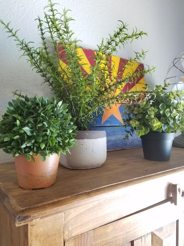 faux plants home decor boho houseplants