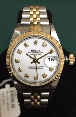 Rolex two tone 18K & stainless ladies Datejust watch 79173 for Sale in Rockville, MD