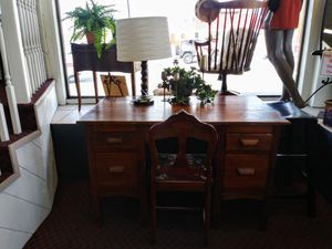 Beautiful Vintage Desk and Chair (solid wood) $69.99 for Sale in Upland, CA