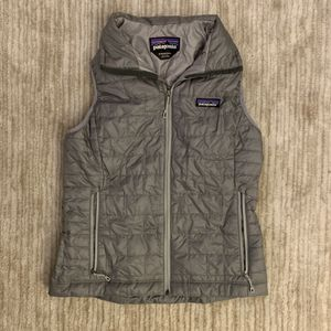 Women's Patagonia Micro Puff Gray Vest for Sale in New York, NY