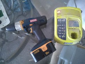 Ryobi 18 v drill and charger for Sale in Capitol Heights, MD