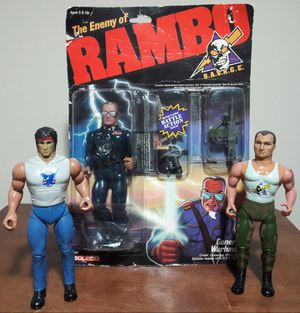 Rambo Vintage Action Figure Lot 80s toys for Sale in Marietta, GA