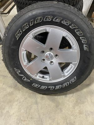 """Jeep Tires Bridgestone Dueler A/T's (5) 255/70 R18 """"MAKE OFFER for Sale in Hilliard, OH"""