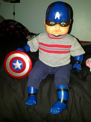 Captain America baby doll for Sale in Lakebay, WA