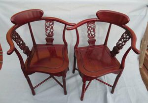 Vintage Chinese antique rosewood corner chairs(A) for Sale in Lake Elsinore, CA