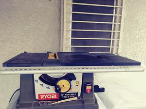 Ryobi 10 inch portable table saw for Sale in Tolleson, AZ