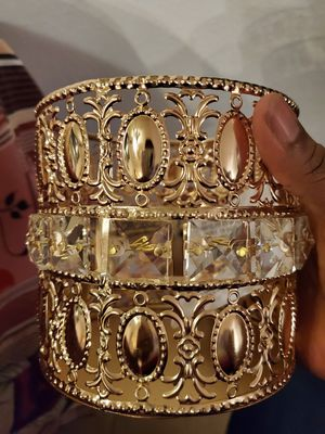 New crystal gold candle holder for Sale in Riverside, CA