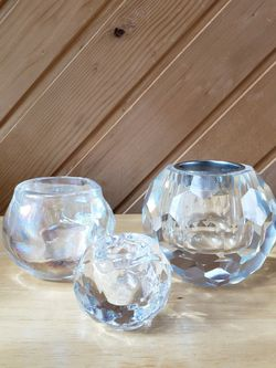 CRYSTAL CANDLE HOLDERS for Sale in Wakefield,  MA