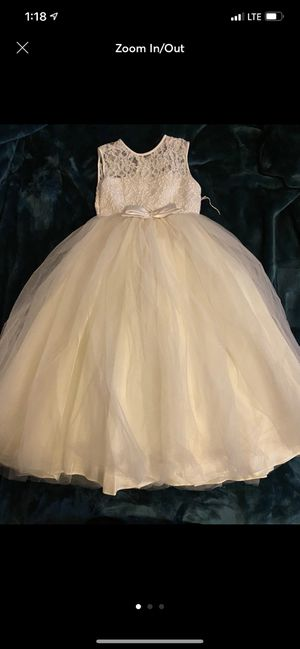 Girls communion dress 5 for Sale in Queens, NY