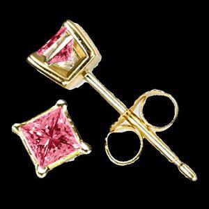 14Kt Pink Twist Diamond Earrings for Sale in Los Angeles, CA
