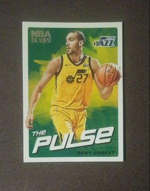 2018-19 Panini Rudy Gobert Utah Jazz #TP-10 The Pulse NBA Hoops Basketball Card Collectible Sports for Sale in Salem, OH