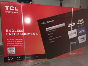 "NEW! 55"" TCL 55"" 4K UHD Roku Smart TV for Sale in McKinney, TX"