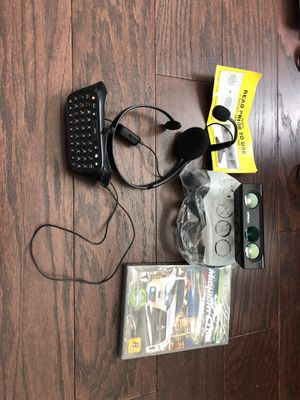 Xbox 360 Kinect Accessories, Headphones, and Game for Sale in Alpharetta, GA