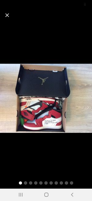 Jordan 1 Off White red for Sale in Hagerstown, MD