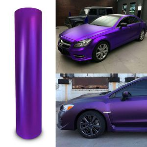 FULL ROLL - 5'x60' Satin Chrome Purple Vinyl Wrap Film Roll with Air Release for Sale in Anaheim, CA