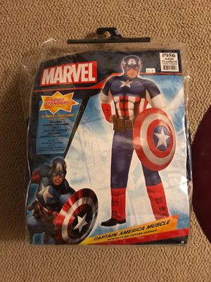 Captain america adult costume and full size shield (marvel) for Sale in Portland, OR