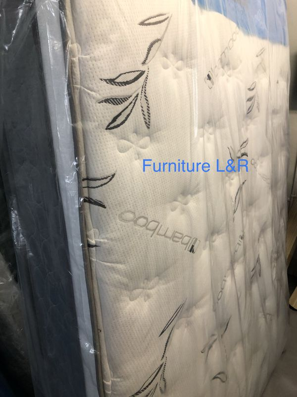 QUEEN SIZE MATTRESS EURO TOP AND BOX SPRING 💥💥READY FOR PICK UP OR DELIVERY AVAILABLE